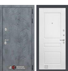 Дверь Бетон 03 - Белый софт фото