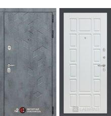 Дверь Бетон 12 - Белое дерево фото