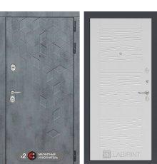 Дверь Бетон 06 - Белое дерево фото