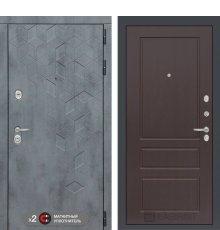 Дверь Бетон 03 - Орех премиум