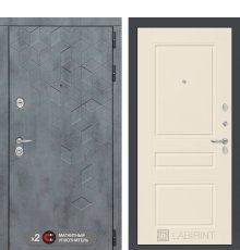 Дверь Бетон 03 - Крем софт