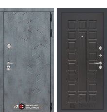 Дверь Бетон 04 - Венге