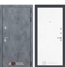 Дверь Бетон 07 - Белое дерево
