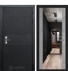 Дверь  BLACK с зеркалом Максимум - Бетон светлый