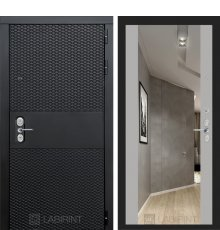 Дверь  BLACK с зеркалом Максимум - Софт грей
