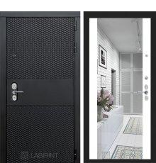 Дверь  BLACK с зеркалом Максимум - Белый софт