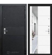 Дверь  BLACK с зеркалом 19 - Белый софт