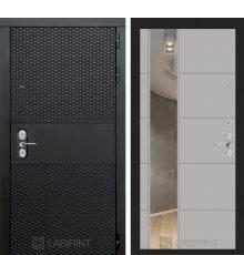 Дверь  BLACK с зеркалом 19 - Грей софт