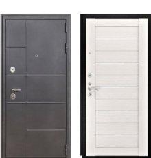 Дверь Luxor-24 ЛУ-22 Беленый дуб стекло белое