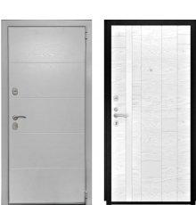 Дверь Luxor-35 Арт-1 Ясень белая эмаль