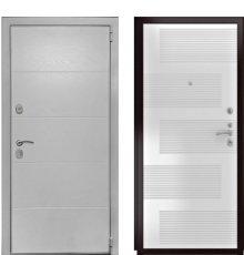 Дверь Luxor-35 ФЛ-185 ПВХ Ясень белый