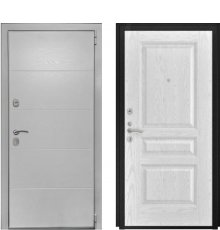 Дверь Luxor-35 Атлант-2 Ясень белая эмаль