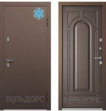 Дверь Бульдорс ТЕРМО-1  Букле шоколад Ларче темный ТВ-1