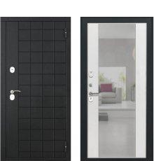 Дверь Luxor-36 Алиса ПВХ Ясень белый зеркало