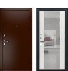 Дверь Luxor-3А Алиса ПВХ Ясень белый зеркало