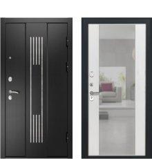 Дверь Luxor-28 Алиса ПВХ Ясень белый зеркало