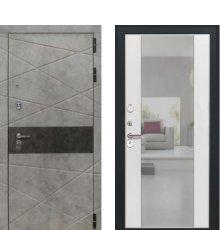 Дверь Luxor-31 Алиса ПВХ Ясень белый, зеркало