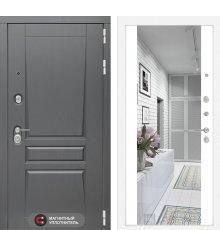 Дверь Платинум с Зеркалом Максимум - Белый софт