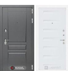 Дверь Лабиринт Платинум 14 - Дуб кантри белый горизонтальный