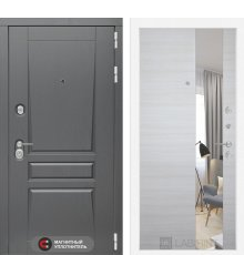 Дверь Лабиринт   Платинум с Зеркалом - Акация светлая горизонтальная