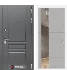 Дверь Лабиринт  Платинум с Зеркалом 19 - Грей софт