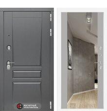 Дверь Лабиринт  Платинум с Зеркалом Максимум - Грей софт