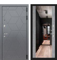 Дверь Лабиринт   COSMO с зеркалом Максимум - Бетон светлый фото