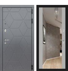 Дверь Лабиринт COSMO с зеркалом Максимум - Грей софт