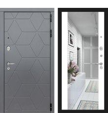 Дверь Лабиринт COSMO с зеркалом Максимум - Белый софт