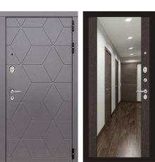 Дверь Лабиринт COSMO с зеркалом Максимум - Венге