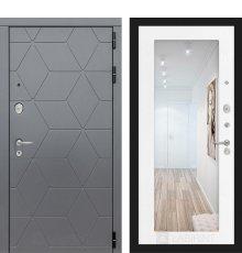 Дверь Лабиринт COSMO с зеркалом 18 - Белое дерево