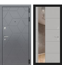 Дверь Лабиринт COSMO с зеркалом 19 - Грей софт