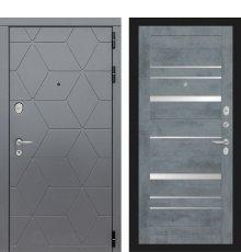 Дверь Лабиринт COSMO 20 - Бетон темный
