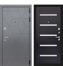 Дверь Лабиринт COSMO 01 - Венге, стекло белое