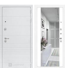 Дверь Лабиринт Трендо с Зеркалом Максимум - Белый софт
