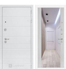 Дверь Лабиринт Трендо с Зеркалом Максимум - Сандал белый