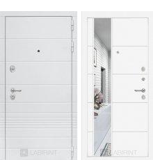 Дверь Лабиринт Трендо с Зеркалом 19 - Белый софт