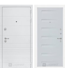 Дверь Лабиринт Трендо 14 - Дуб кантри белый горизонтальный