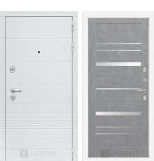 Дверь Лабиринт Трендо 20 - Бетон светлый, зеркальные вставки
