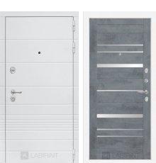 Дверь Лабиринт Трендо 20 - Бетон темный, зеркальные вставки
