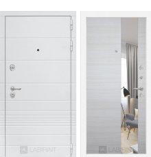 Дверь Трендо с Зеркалом - Акация светлая горизонтальная