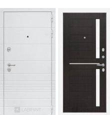 Дверь Лабиринт Трендо 02 - Венге, стекло белое
