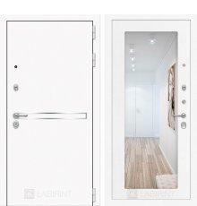 Дверь Лабиринт Лайн WHITE с Зеркалом 18 - Белое дерево