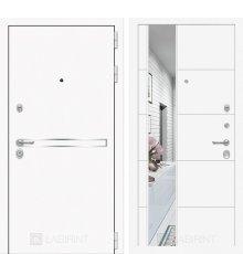 Дверь Лабиринт Лайн WHITE с Зеркалом 19 - Белый софт