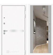 Дверь Лабиринт Лайн WHITE с широким зеркалом - Грей soft