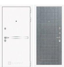 Дверь Лабиринт  Лайн WHITE 09 - Лен сильвер грей