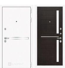 Дверь Лабиринт Лайн WHITE 02 - Венге, стекло белое