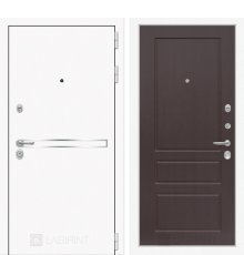 Дверь Лабиринт Лайн WHITE 03 - Орех премиум