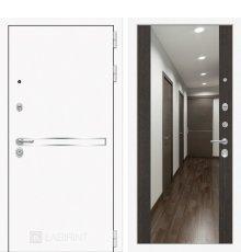 Дверь Лабиринт Лайн WHITE с широким зеркалом - Венге