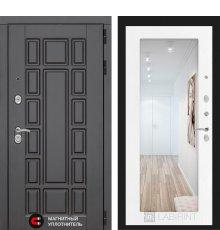 Дверь Лабиринт NEW YORK с Зеркалом 18 - Белое дерево
